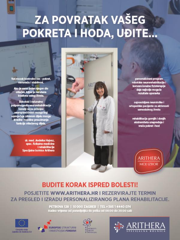 """Uspješna provedba projekta """"Program prevencije bolesti u Specijalnoj bolnici Arithera"""""""